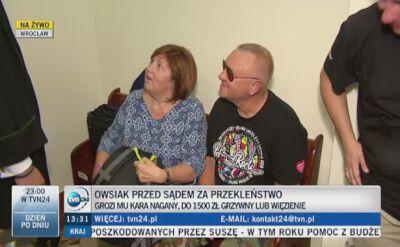 Jerzy Owsiak odpowiada za to, że użył wulgarnego słowa