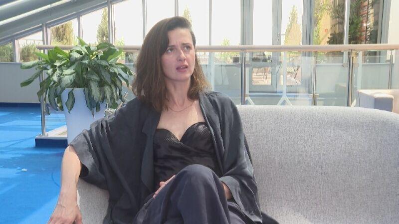 Agnieszka Grochowska o pracy z mężem na planie