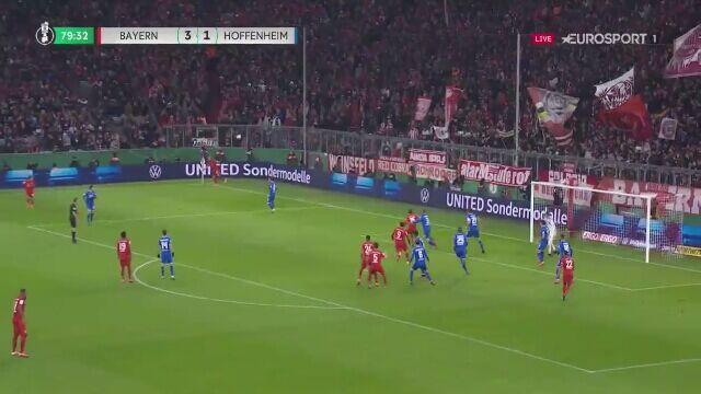 Drugi gol Roberta Lewandowskiego z Hoffenheim