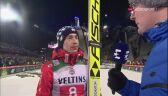 Rozmowa z Kamilem Stochem po konkursie w Oberstdorfie