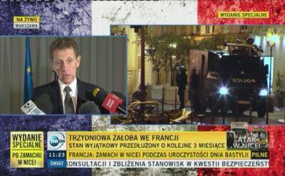 Ambasador Francji: to wstrętny atak na niewinnych ludzi