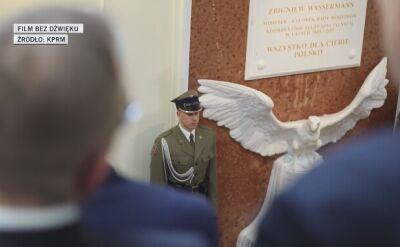 W Kancelarii Premiera odsłonięto tablice poświęcone ofiarom katastrofy smoleńskiej