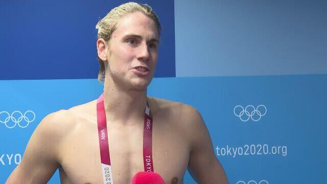Jakub Majerski po półfinale na 100 m, Radosław Kawęcki po finale na 200 m