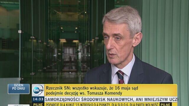 Cała wypowiedź rzecznika Sądu Najwyższego Michała Laskowskiego w sprawie Tomasza Komendy