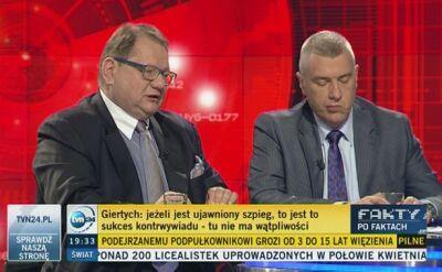 Kalisz i Giertych byli zgodni, że zatrzymania szpiegów to sukces naszego kontrwywiadu