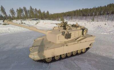 Drift 60-tonowym czołgiem. Załogi Abramsów ćwiczą za kołem podbiegunowym