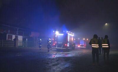 Lubuskie: Płonął tartak, butle z gazem wylatywały w powietrze