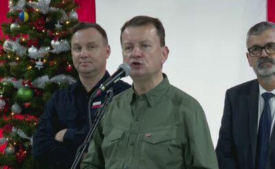 Błaszczak podczas wizyty u żołnierzy w Rumunii