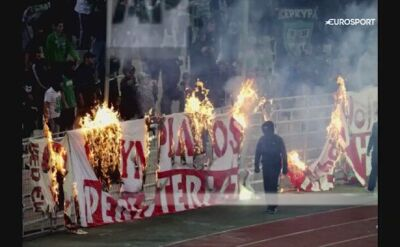 Derby Grecji przerwane przez kiboli