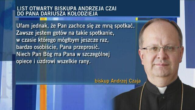 Biskup Andrzej Czaja przeprasza ofiarę księdza pedofila