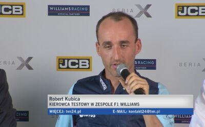 Kubica: celem jest powrót do ścigania w F1