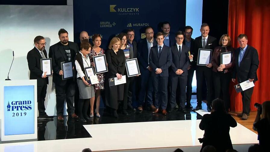 Trzy nagrody Grand Press dla dziennikarzy Grupy TVN