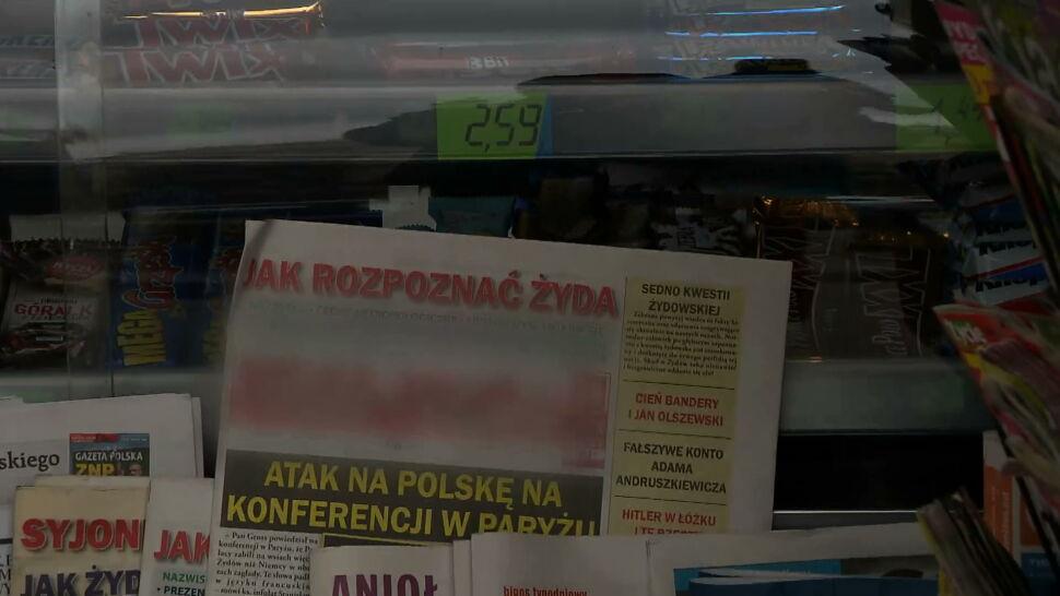 """Antysemicka gazeta w sejmowym kiosku. """"Na to są w Polsce paragrafy"""""""