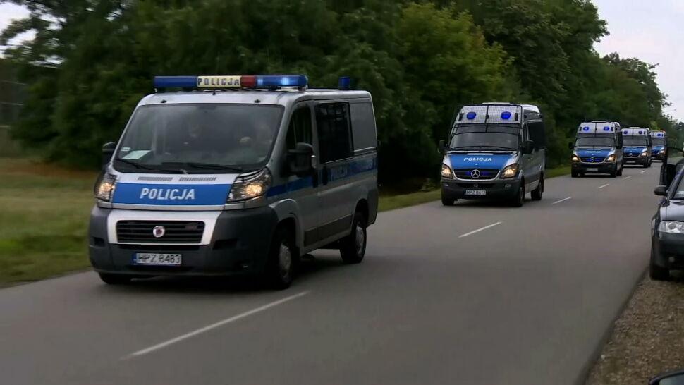 Policja znów przeszukuje teren wokół węzła Konotopa