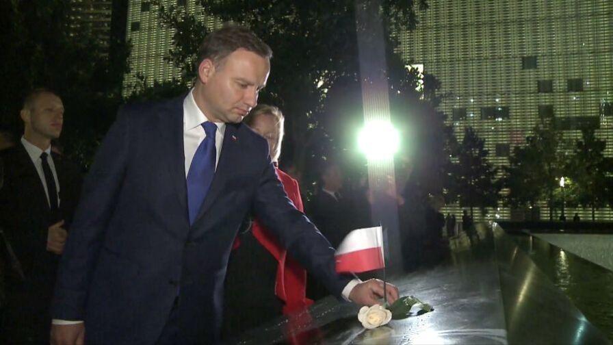 Andrzej Duda z wizytą w USA. Był już na Ground Zero, przed nim wystąpienie w ONZ