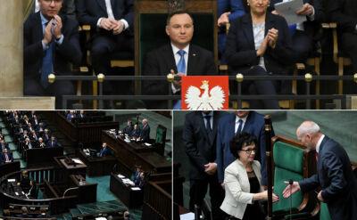 Pierwsze posiedzenie Sejmu i pojednawcze słowa Andrzeja Dudy