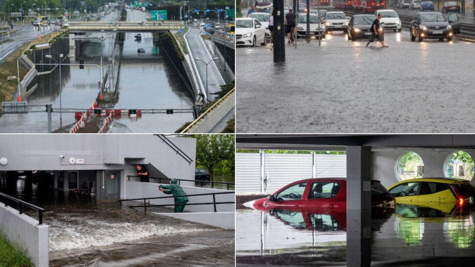 Ulewa krótka, ale intensywna. Katowice zalane
