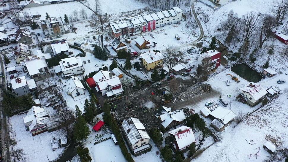 Śledczy badają przyczynę wybuchu gazu w Szczyrku