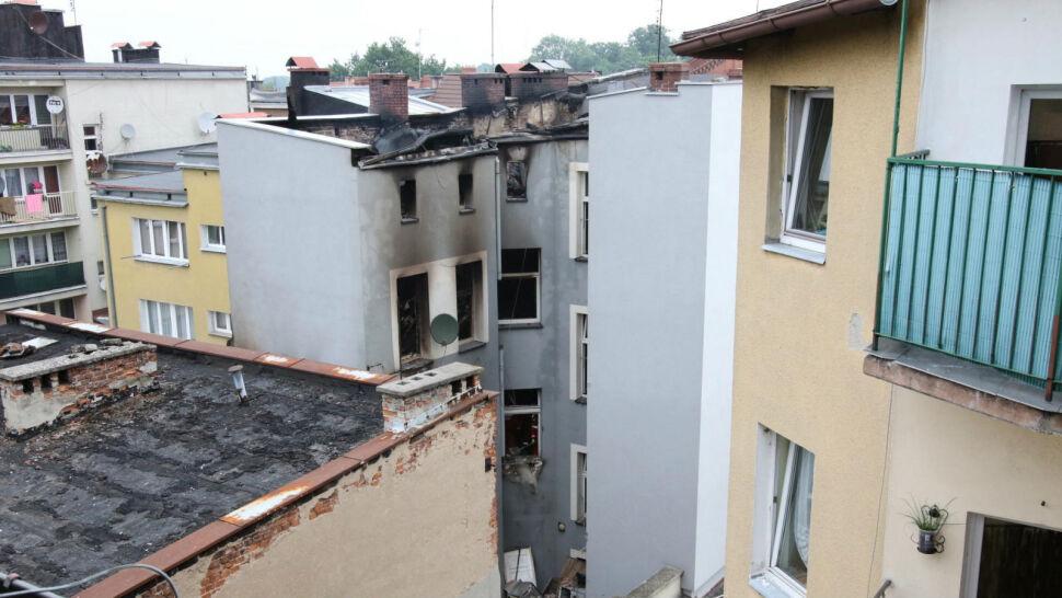 Kędzierzyn Koźle: potężny wybuch i pożar. Kamienicę czeka rozbiórka