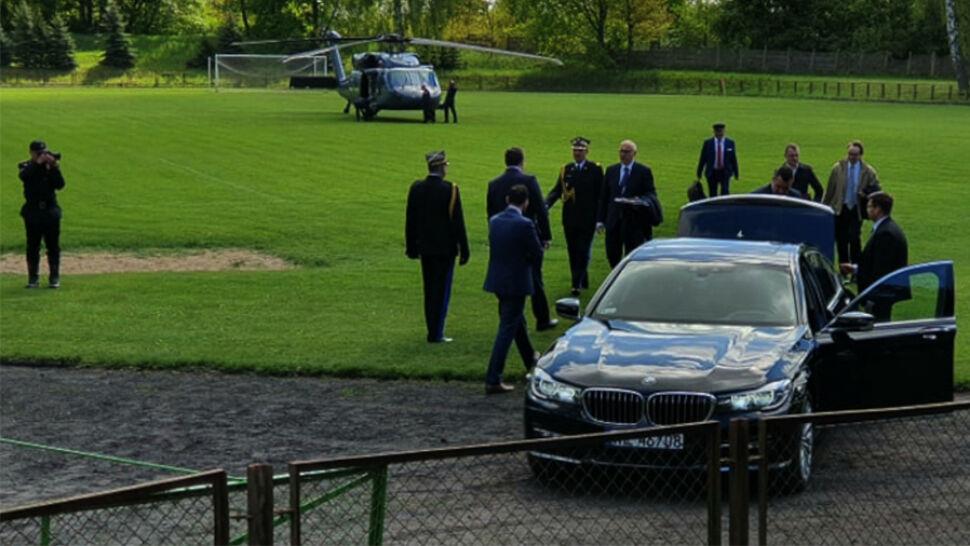 Mecz przerwany przez lądowanie ministra. Brudziński: ten kłopot wynagrodziłem młodzieży
