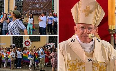 Echa słów arcybiskupa Jędraszewskiego. Oburzeni protestują przed pałacem biskupim