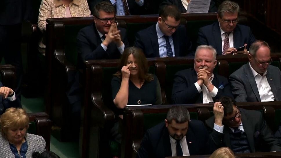 """""""Zostało naruszone dobre imię Sejmu"""". Posłanka Lichocka ukarana naganą"""