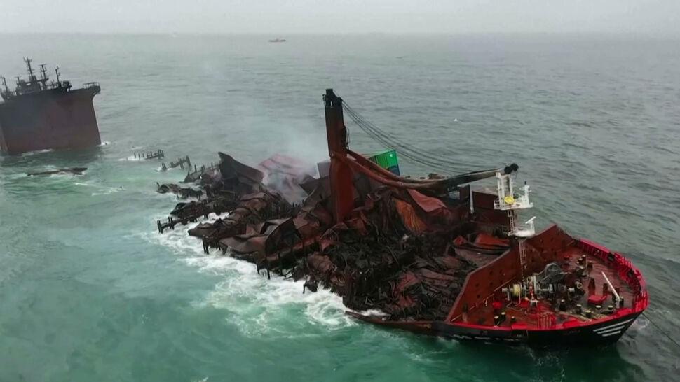 """Pożar kontenerowca nieopodal Sri Lanki. """"Najgorsza katastrofa ekologiczna spowodowana przez człowieka"""""""