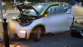 14-latek za kierownicą elektrycznego auta. Rozbił je na zaporze