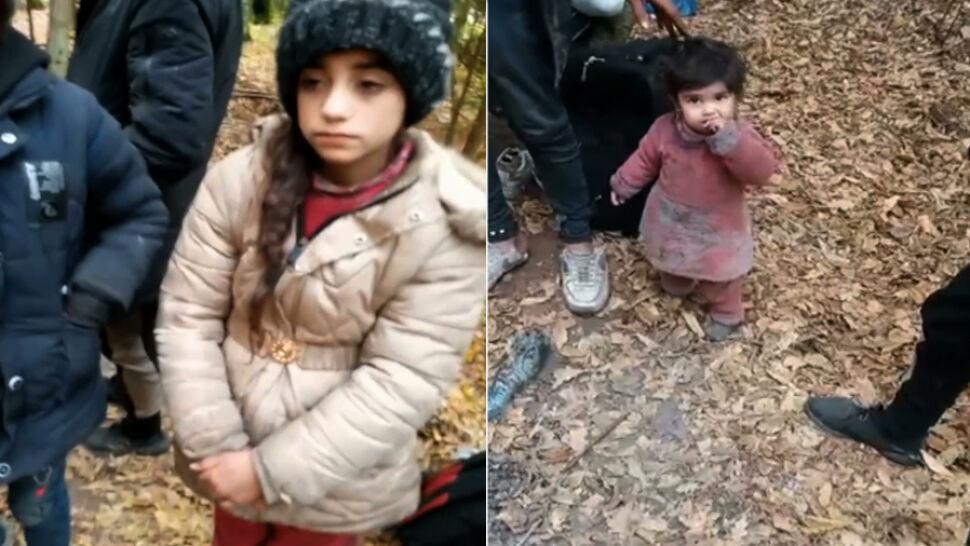 """Dzieci z Michałowa koczują po białoruskiej stronie granicy. """"Jest bardzo zimno"""""""
