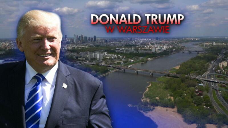 """Napięty grafik Donalda Trumpa w Polsce. Materiał """"Faktów z zagranicy"""" z 13 czerwca"""