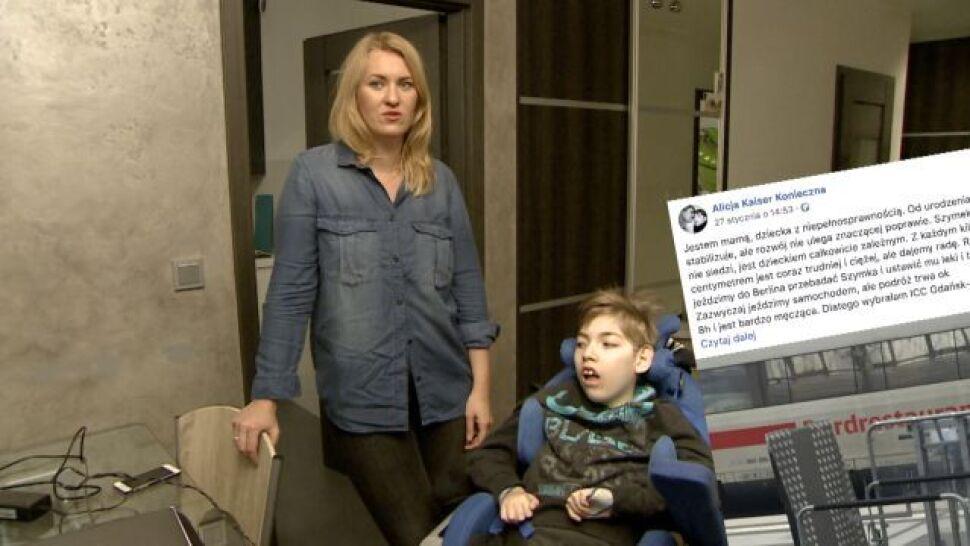 Ciężka podróż matki z niepełnosprawnym dzieckiem. PKP Intercity przeprasza
