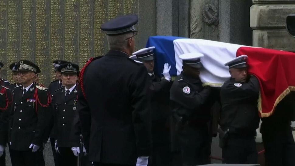 Francja pożegnała policjantów, którzy zginęli w ataku nożownika