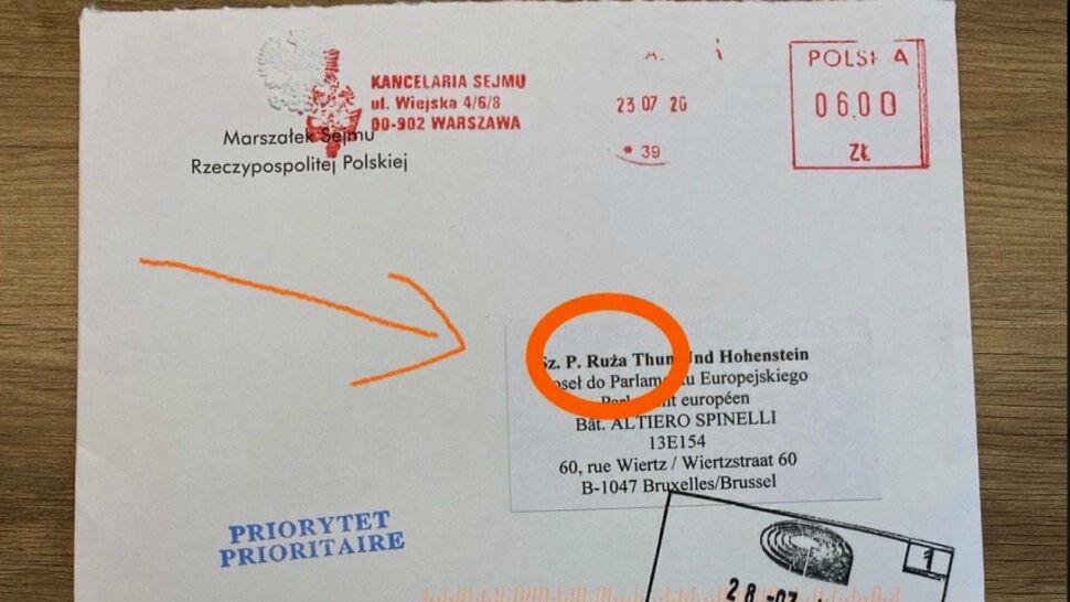 Kancelaria Sejmu wysłała zaproszenie z błędem ortograficznym
