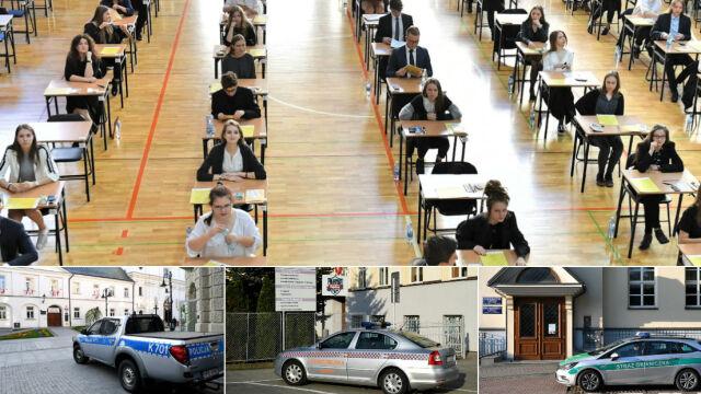 Kilkaset alarmów bombowych w czasie matur. Służby zabezpieczały szkoły