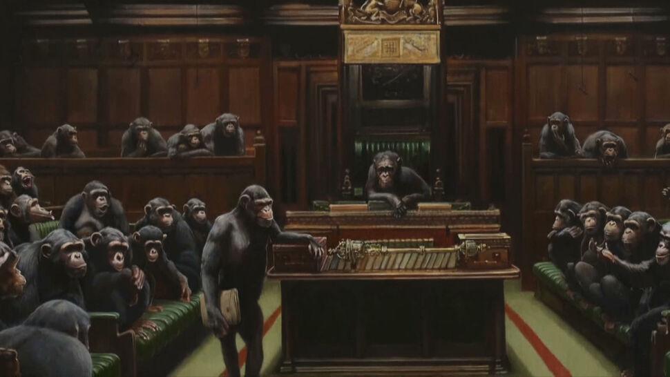 Blisko 10 milionów funtów za obraz Banksy'ego
