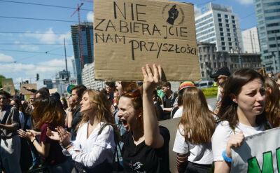Młodzież demonstruje przeciwko zmianom klimatycznym, także w Polsce