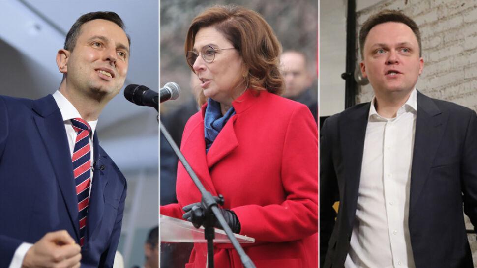 Władysław Kosiniak-Kamysz, Małgorzata Kidawa-Błońska i Szymon Hołownia rozpoczynają kampanię