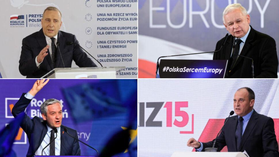 Wybory do PE za miesiąc. Kaczyński, Schetyna, Biedroń i Kukiz nie próżnują