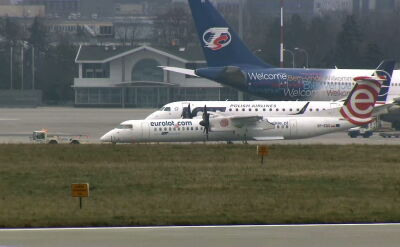 Another emergency bombardier landing. A spokesperson for LOT: shows safety