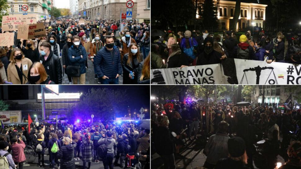 Protesty i starcia z policją po decyzji Trybunału Konstytucyjnego