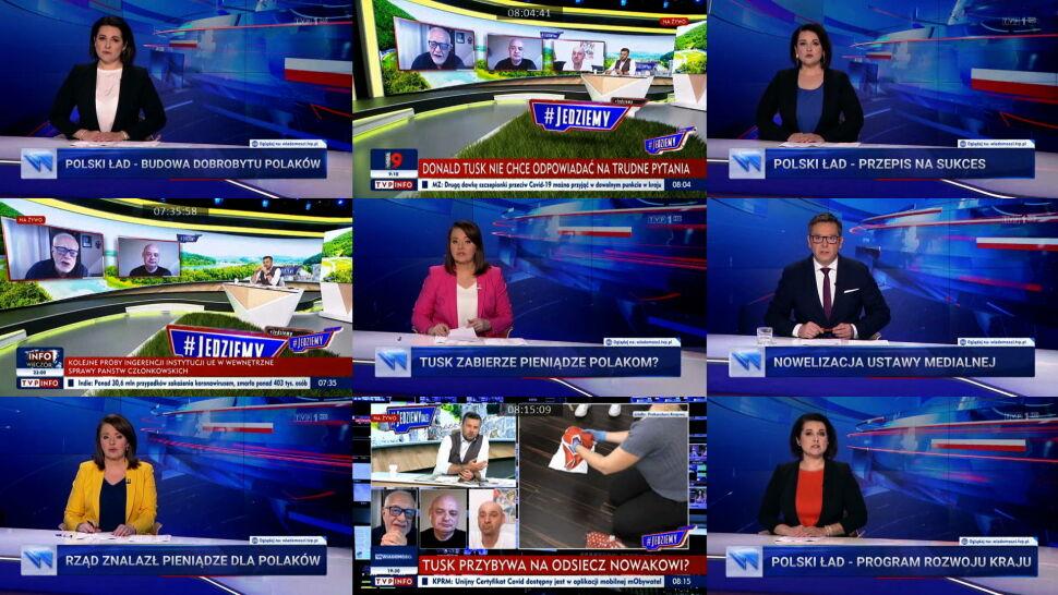 Tak publiczna telewizja przedstawia rząd oraz Donalda Tuska