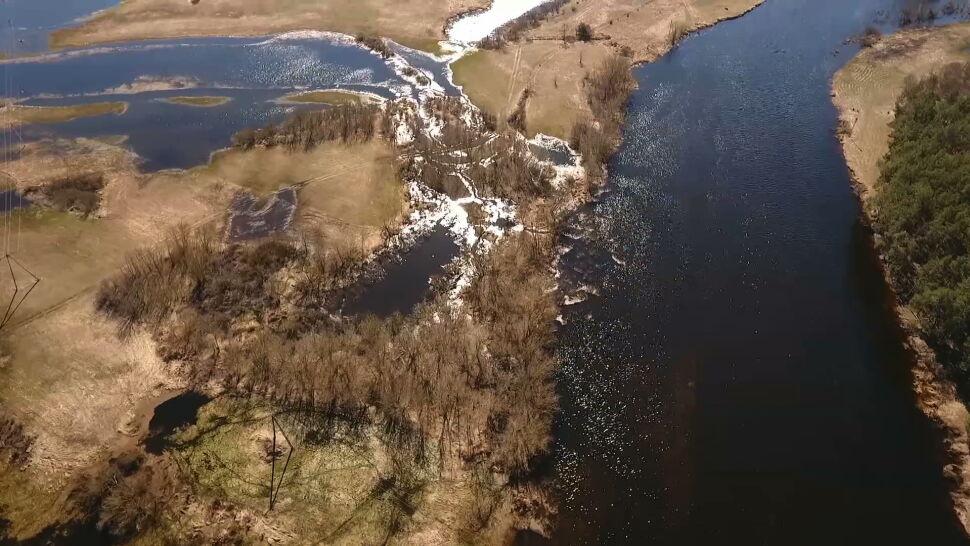 Przyszła wiosna, Dolina Narwi budzi się do życia - widać to z lotu ptaka