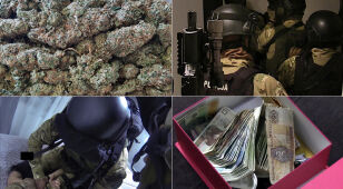 Kilogramy narkotyków, elementy umundurowania. Wielka akcja CBŚP