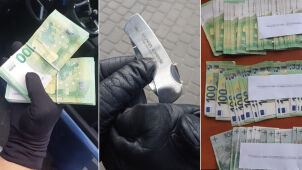 Policja: ukradł 100 tysięcy euro, próbował zranić nożem policjanta