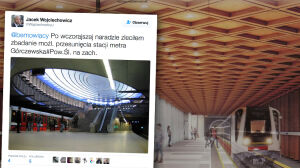 Spór o lokalizację nowej stacji metra. Deklaracja wiceprezydenta