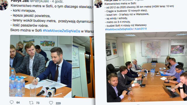 Warszawska kampania dotarła do  Bułgarii. Jaki chwali metro w Sofii