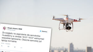 Dwa kolejne drony nad lotniskiem. Wstrzymane lądowania