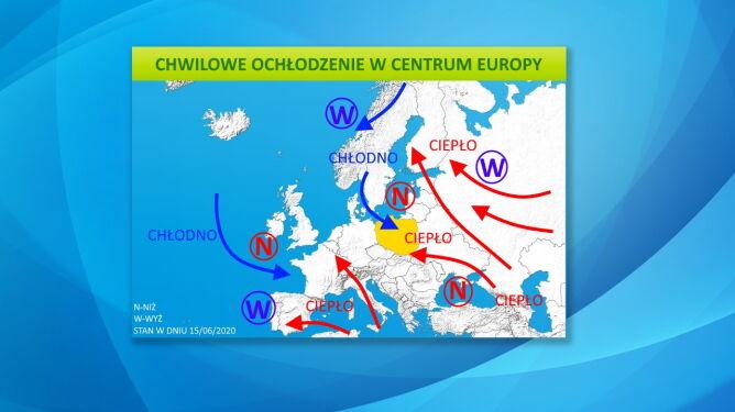 Chwilowe ochłodzenie w centrum Europy