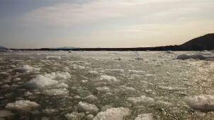 Lód topnieje, temperatura rośnie.