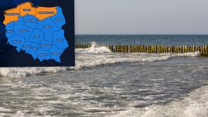 Pomarańczowe alarmy na północy kraju. Wysoki poziom wody w Bałtyku